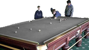 Greyscale snooker table